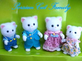Sylvanian Families Persian Cat Persis Family Figure Set
