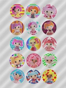 N465 Edible Image Birthday Decoration Cake Cookie Cupcake Toppers Lalaloopsy