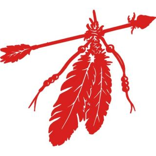 Native American Indian Feathers Decal Sticker Red Car Window 656