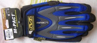 Mechanix Wear M Pact Full Finger Gloves Safety Tactical Glove Brown Black Blue R