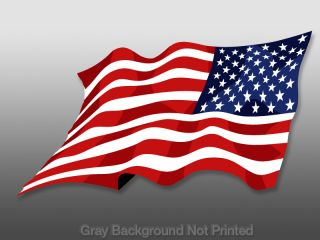 Reverse Waving American Flag Sticker Wave Decal USA US