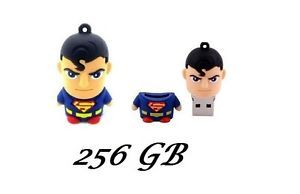Cartoon Model 256GB USB Memory Flash Drive Pen Stick Superman Figure