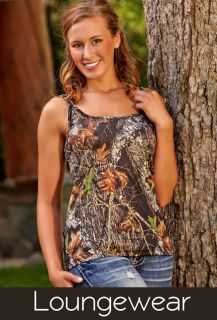 Wilderness Dreams Camo Tank Top Nightgown Shirt Mossy Oak Snow Sexy Straps Hunt