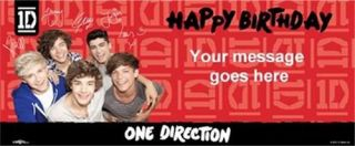 One Direction Birthday Party Items Cards Masks Personalised Banners