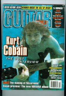 1996 Guitar World Kurt Cobain The Lost Interview Steve Vai Joe Satriani