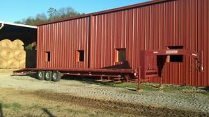Flatbed Triple Axle Equipment Trailer Gooseneck