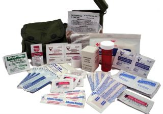 Army Individual First Aid Kit ★ Military Medic Tactical OD Pouch ★ IFAK EMT Kit