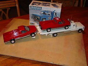 1 24 Revell 77 Chevy GMC Wrecker Tow Truck Rollback Flatbed 2 Car Hauler Kit
