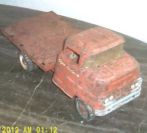 Vintage 1950s Structo Flatbed Stake Truck Pressed Steel Toy
