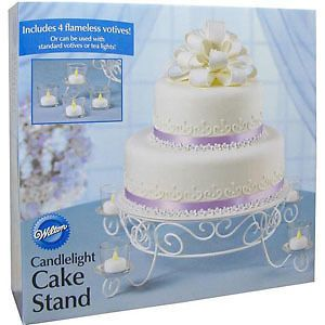 New Wilton Votive Candlelight Cake Stand Wedding Party