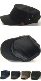 New Men Fashion Basic Urban Design Army Box Cap Military Style Hat Jean Cadet