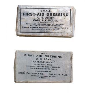 WWII First Aid Kit Carlisle Model Handy Pad Supply Co with Sulfanilamide