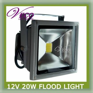20W 12V Pure Cool White LED Wash Flood Light Lamp Outdoor Caravan Camping