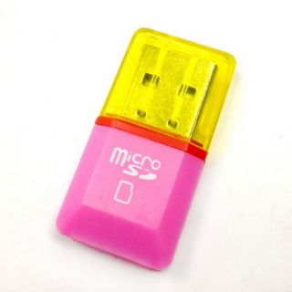 Mini USB 2 0 Micro SD TF T Flash Memory Card Reader Adapter SDHC Wire Lot A1450