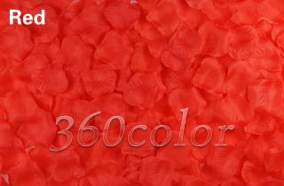 500pcs Silk Rose Petals Wedding Supply Party Flower Favors Confetti Decorations