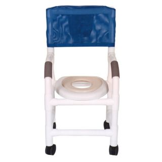 MJM International Standard Deluxe Small Adult Shower Chair with Optional Accessories