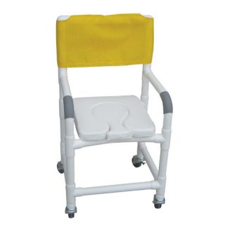 MJM International Standard Deluxe Shower Chair with Dual Use Soft Seat and Optional Accessories