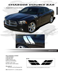 For Dodge Charger Double Bar Graphics Kit EE1769 Decals Trim Emblems 2011 2013
