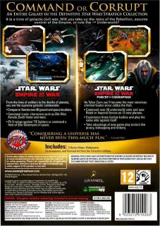 Brand New Computer PC Video Game Star Wars Empire at War Gold 2 Game Pack