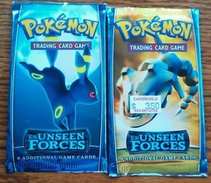 Pokemon Trading Card Game Two Factory SEALED EX Unseen Forces Booster Packs