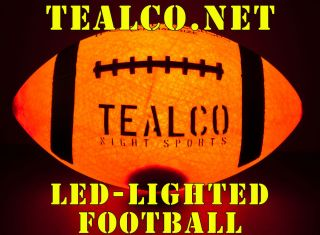Tough Full Size LED Light Up Football Glow in The Dark Lighted Ball