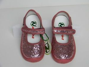 Naturino Sparkle Infant Toddler Pink Glitter Mary Jane Shoes 124