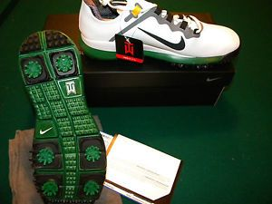 2013 Nike Tiger Woods TW Limited Edition Augusta Masters Green Golf Shoes 10 M