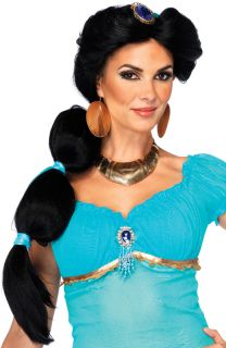 Brand New Disney Aladdin Princess Jasmine Costume Wig