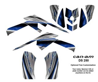 Can Am DS 250 EFI ATV Quad Graphics Kit Decals 1400BLU