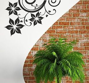 Floral Flower Design Modern Wall Sticker Quote Stylish Decal Graphic G11