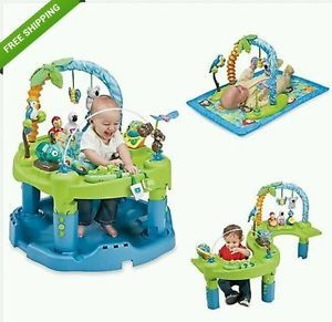New Baby Exersaucer Triple Fun Active Learning Center Seat Kids Mat Toys Play