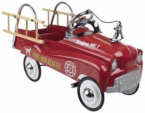 Little Tikes Toys Instep Fire Truck Kids Pedal Car Ride on  New