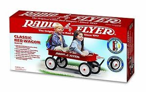 Red Wagon Radio Flyer Classic Original Metal Garden Hauler Toy Kids Infants