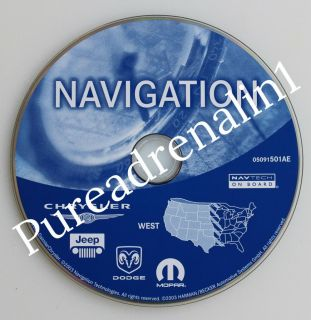 2004 Dodge RAM Laramie 1500 2500 3500 RB4 Navigation Disc CD Set Maps East West