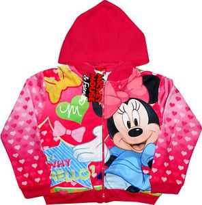 Disney Minnie Mouse Childrens Kids Girls Jacket Coat Zip Hoodie Top Clothes Toys