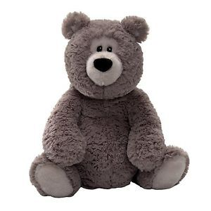 "Gund Rafferty Gray 14"" Stuffed Animal Plush Baby Toy 320445 New"