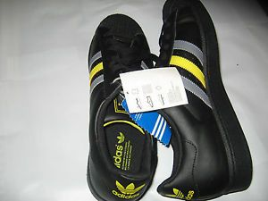 Adidas Superstar 2 Originals Casual Shoes 11 5 Black Gray Yellow