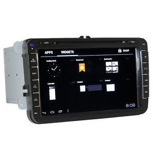 In Dash Car Video Unit GPS Navigation Radio on Android 3G WiFi for Volkswagen VW
