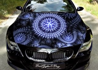 Hood Wrap Full Color Print Vinyl Decal Fit Any Car Abstract Leopard 169