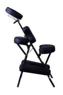 "3"" Black PU Leather Pad Portable Travel Massage Tattoo Spa Chair w Carrying Bag"