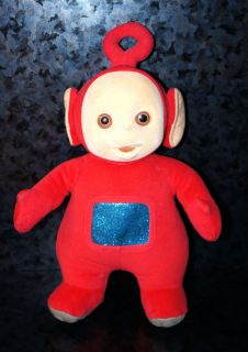"11"" 1998 Eden Teletubbies Plush Doll Po Red Childrens Kids Cartoon Character Toy"