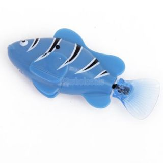 Blue Robot Water Fish Emulation Toy Fish Creative Children Kid Electronic Toy