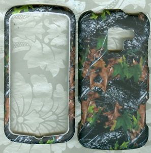 Camo Leafs Hard Phone Cover Case Protector LG Enlighten VS700 Verizon Rubberized