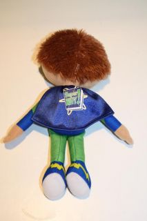 "New 8"" Super Why Wyatt Plush Doll PBS Kids Series Blue Green Learning Curve"