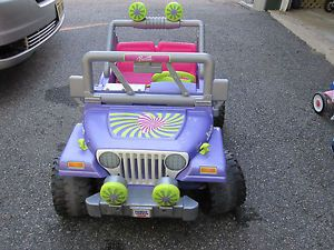 Fisher Price Barbie Jammin' Jeep Power Wheels Kids Ride on Toy
