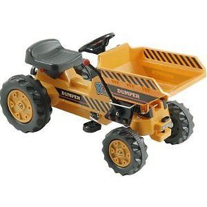 Kalee Pedal Tractor Truck Working Dump Bucket Trailer Kids Riding Toddler Toy