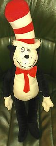 "Kohl's Cares for Kids Cat in The Hat Dr Seuss Stuffed Animal Plush Toy 22"" Tall"