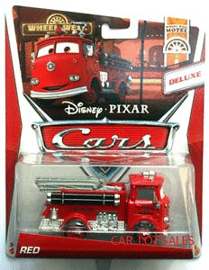 Disney Pixar Cars Wheel Well Motel Series Deluxe Red The Fire Truck New in Hand