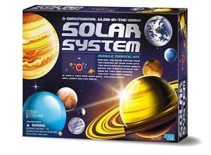 3D Learning Nine Planet Hanging Mobile Solar System Kit Kids Toy Science New