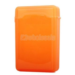 "2X Plastic Protective Enclosure Store Case for 3 5"" SATA IDE HDD Hard Disk Drive"